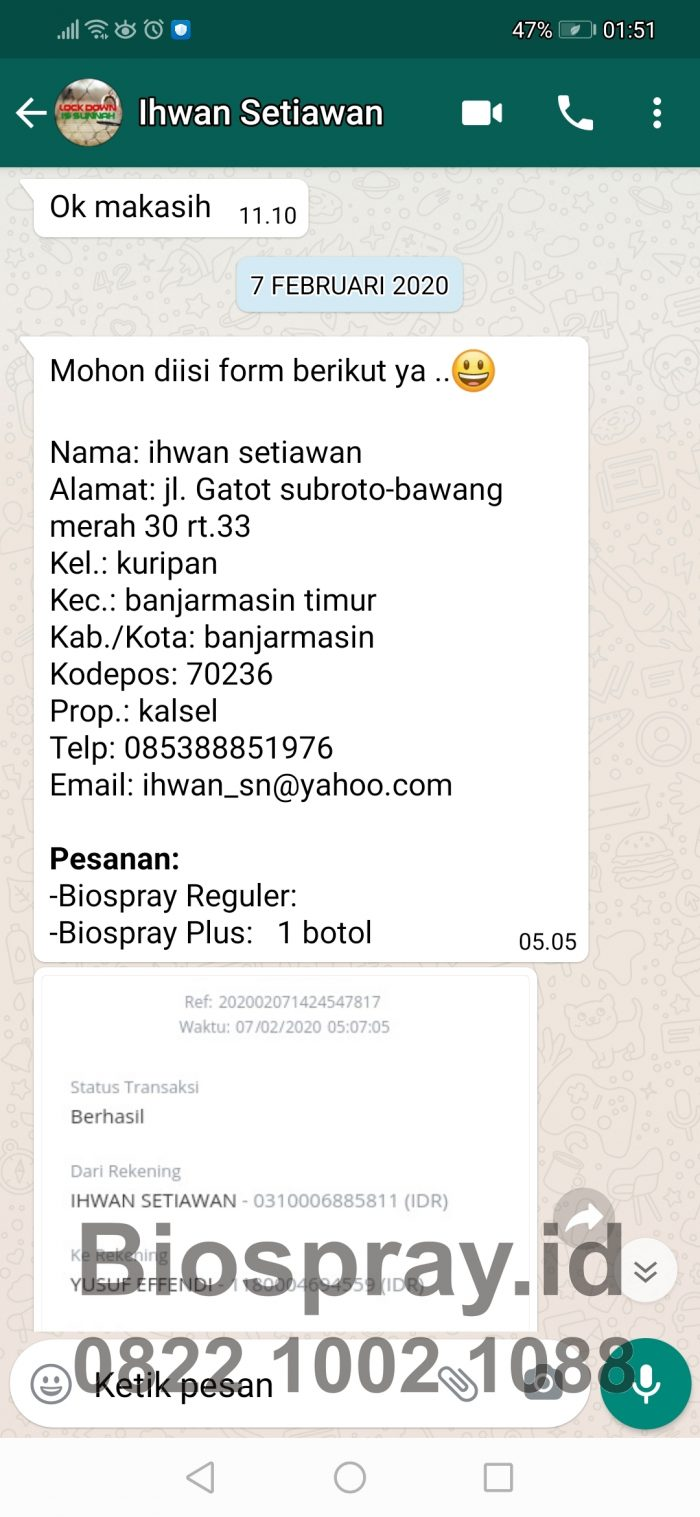 Bio Spray Bionutric ASLI 3
